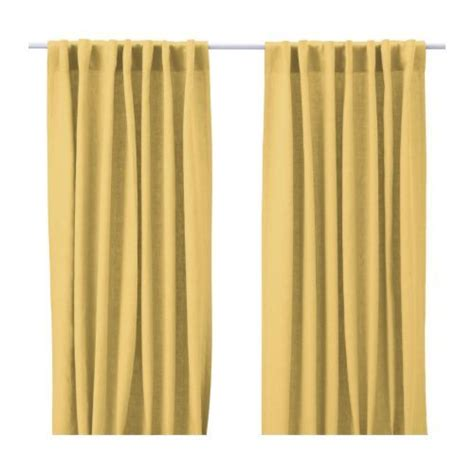 ikea yellow curtains yellow linen for dining room curtains room inspiration