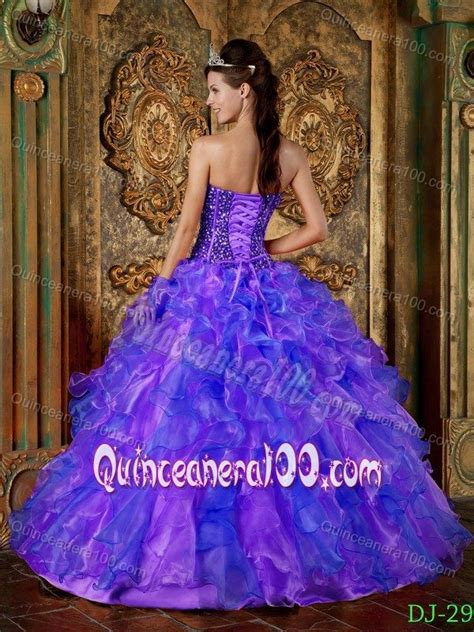 blue and purple quinceanera dresses blue and purple strapless quinceanera dress with beading
