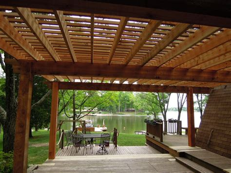 western red cedar pergola lake lorelei oh area