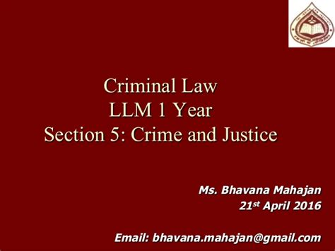 criminal law section crime and justice module in criminal law restorative justice