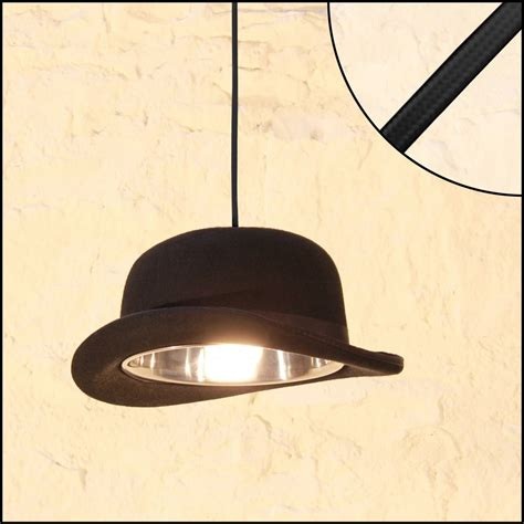 Ceiling Light Cable Black Bowler Hat Ceiling Pendant Light Hanging On Black Cord Cable