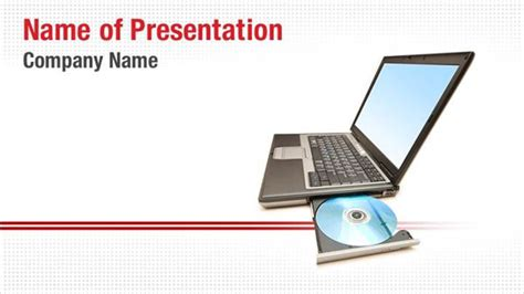 Laptop Cd Drive Powerpoint Templates Laptop Cd Drive Powerpoint Backgrounds Templates For Drive Presentation Templates