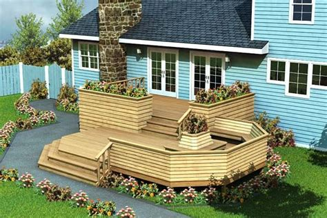 split level deck plans luxury split level deck project plan 90010 pinterest