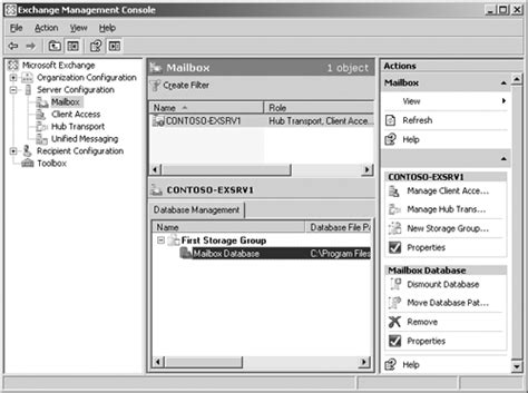 exchange management console using the exchange management console