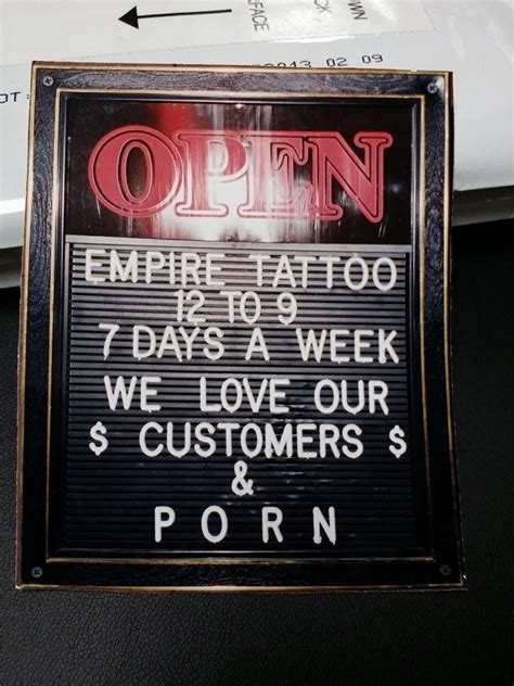 tattoo shops upland open sign from the upland empire shop circa