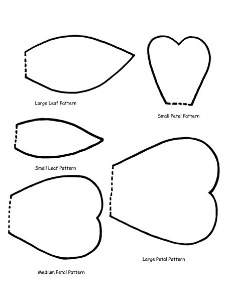 rose templates free clipart best