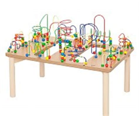 bead table bead maze table for kids and toddlers