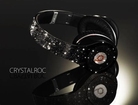 Headphone Beat By Dre Crystalroc Swarovski Crystals Beats By Dr Dre Headphones