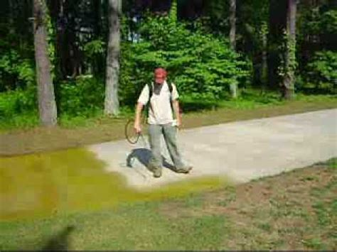 Brick Floor Sealer by Concrete Driveway Staining Wmv Youtube
