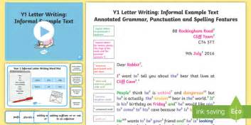 letter layout twinkl y1 letter writing informal model exle text exle texts