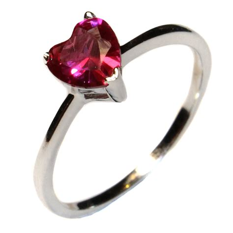 ruby promise ring cubic zirconia beautiful