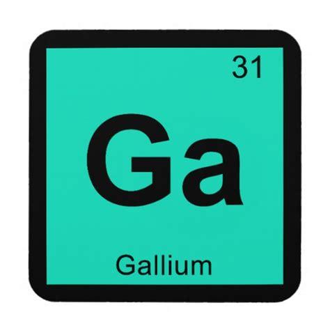 ga gallium chemistry periodic table symbol beverage coaster