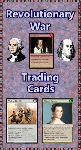 Revolutionary War Trading Cards Template by The Best Of Entrepreneurs Ii