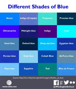 names of blue colors different shades of blue you can find even more blue