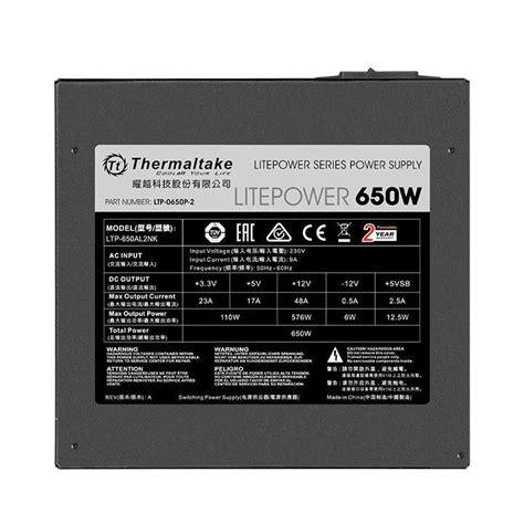 Power Supply Thermaltake Litepower 650w buy thermaltake litepower gen2 650w power supply power supplies scorptec computers