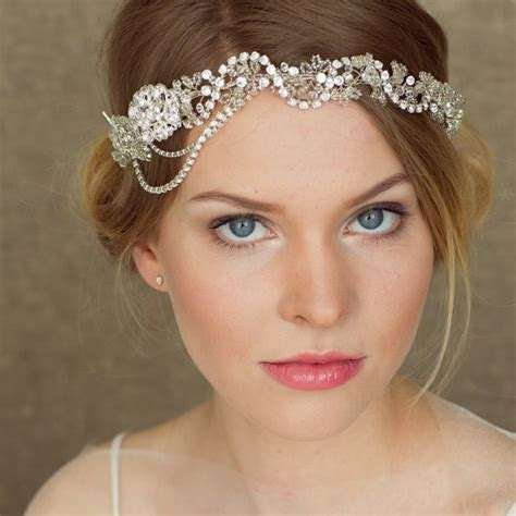 wedding hairstyles using a headband items similar to wedding headband bridal headband bridal