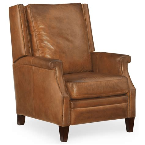high leg wingback recliner hooker furniture reclining chairs collin leather recliner
