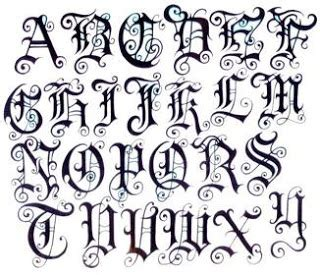tattoo alphabet different handwriting styles tattoo fonts different writing fonts letters and styles
