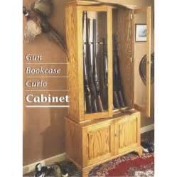 Curio Cabinet Gun Case Woodworker S Journal Gun Bookcase And Curio Cabinet Plan