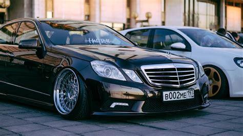 Mercedes E Class Bagged Halfroll Drive2