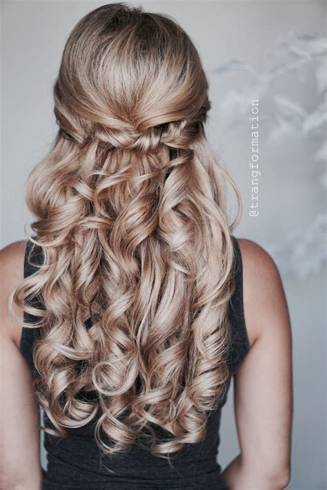 wedding hairstyles bridal hair half updo half up half hairstylist www trangdo net