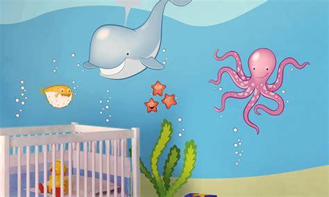 lettere in fondo al mare stickers murali bambini cameretta in fondo al mare