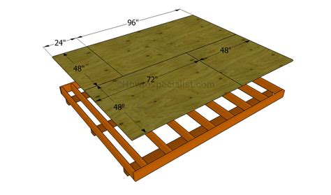 build  shed floor howtospecialist   build