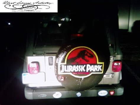Jurassic Park Jeep Tire Cover Jeep Spare Tire Covers Memes