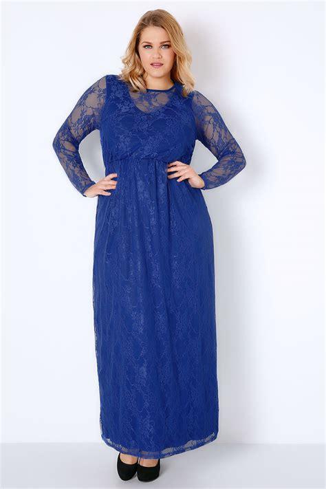 Dress Wanita Maxi Royal Balotelly royal blue lace overlay maxi dress with elasticated waist