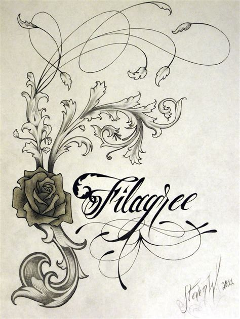 filigree tattoo designs 202 best images about scrolls filigree damask etc on