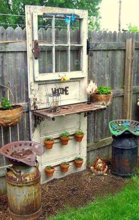 old door potting bench the best 35 no money ideas to repurpose old doors