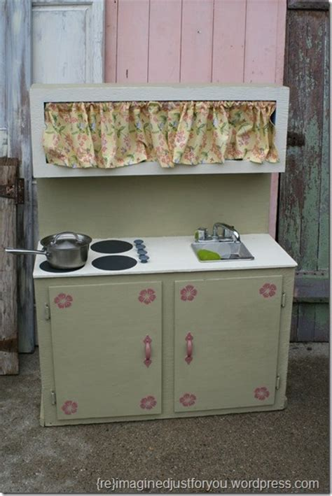 upcycled kitchen set upcycling play kitchens pinterest