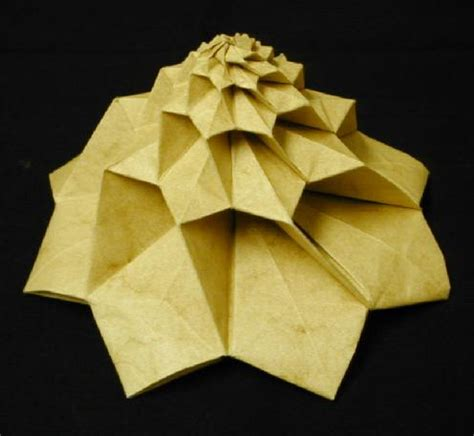Origami Flower Tower - chris palmer origami 171 embroidery origami