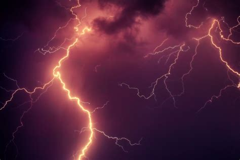 white lightning heating mountain  stock photo