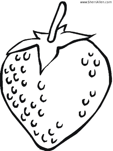 Free Coloring Pages Of Strawberry Strawberry Coloring Page