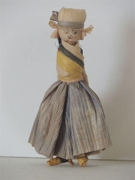 corn husk dolls corn husk doll 1930 s corn husk