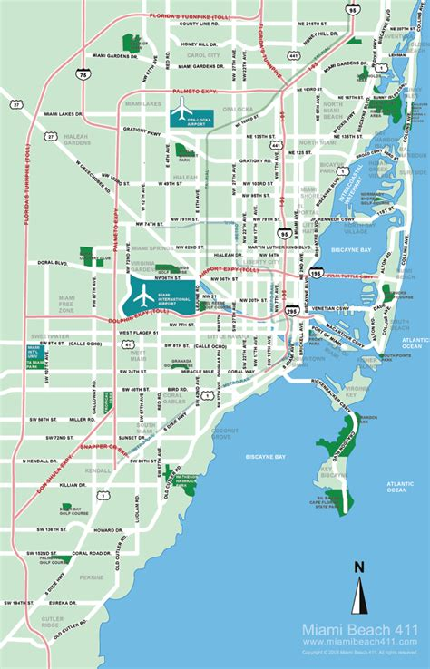 miami map miami florida tourist destinations
