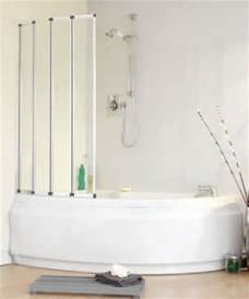 Corner Shower Bath With Screen folding bath shower screen for offset corner baths ebay