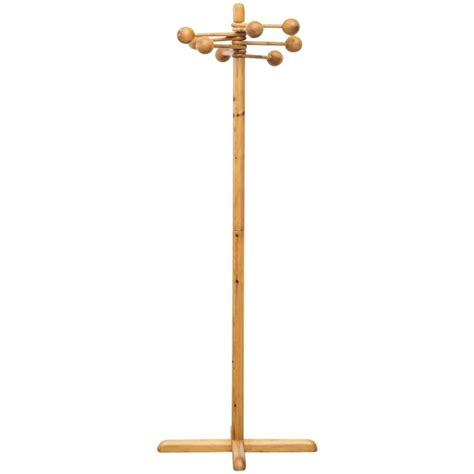 decorative standing coat rack for sale at 1stdibs borsani style pine standing coat rack for sale at 1stdibs