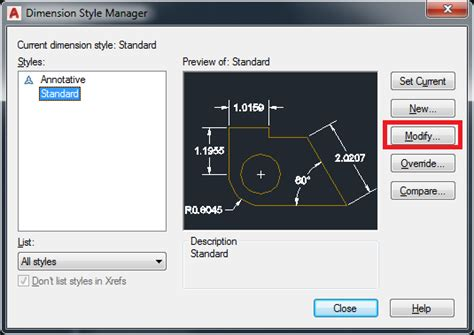 Beschriftung Autocad by Changing Dimension Text Height In Autocad Autocad