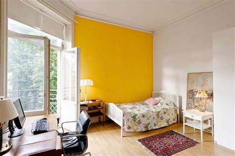 yellow accent wall bright yellow wall decor pinterest