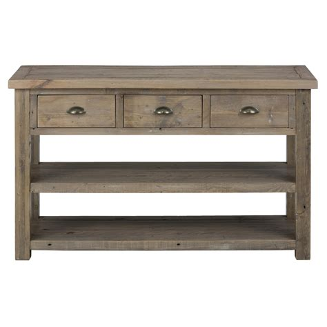 Jofran 940 4 Slater Mill Pine Sofa Table With 3 Drawers Pine Sofa Tables