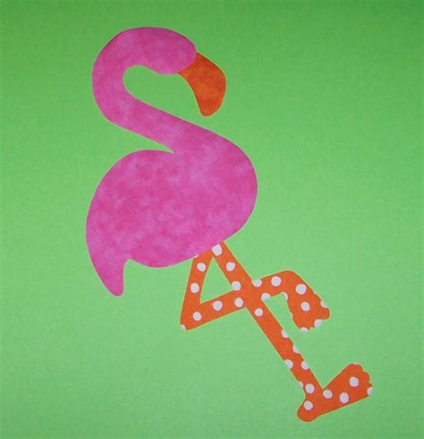 flamingo template fabric applique template pattern only flamingo