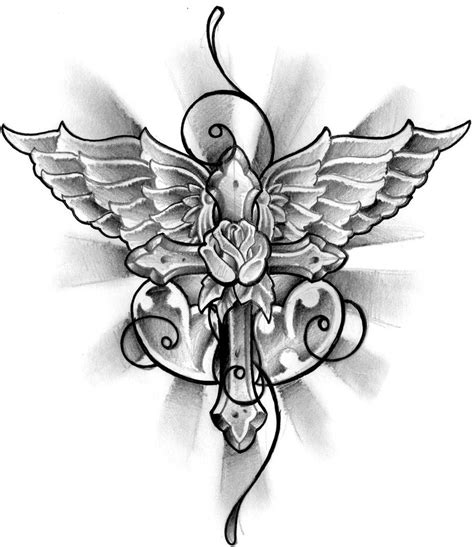 cross and wings tattoo designs check out this great site http 3hyv1fs6