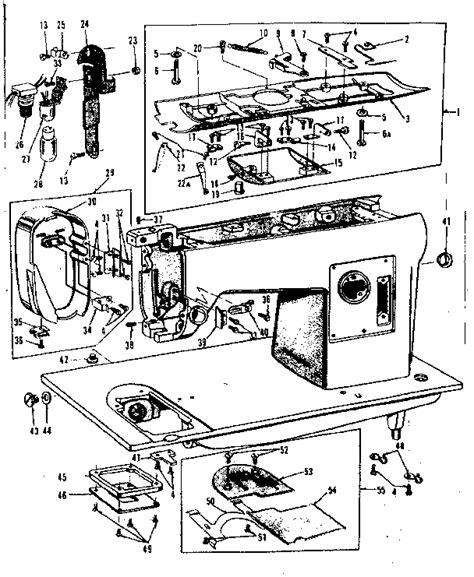 kenmore sewing machine parts diagram kenmore kenmore sewing machine parts model 158152