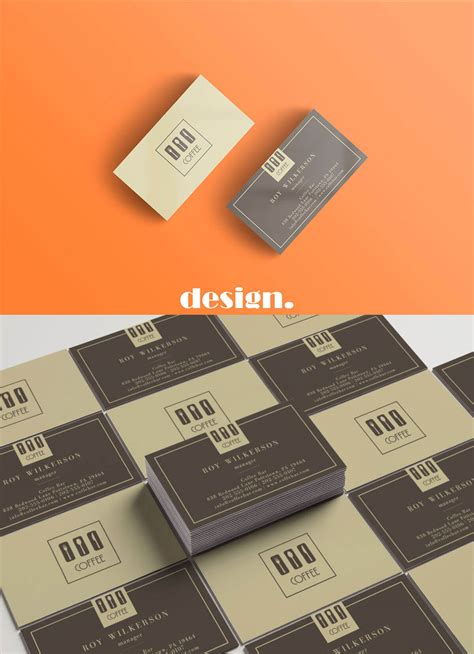 free coffee bussiness card template free coffee business card template creativetacos