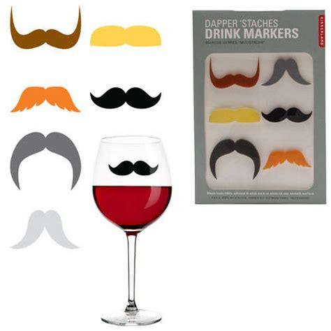 Moustache Drink accessories mustache glass markers
