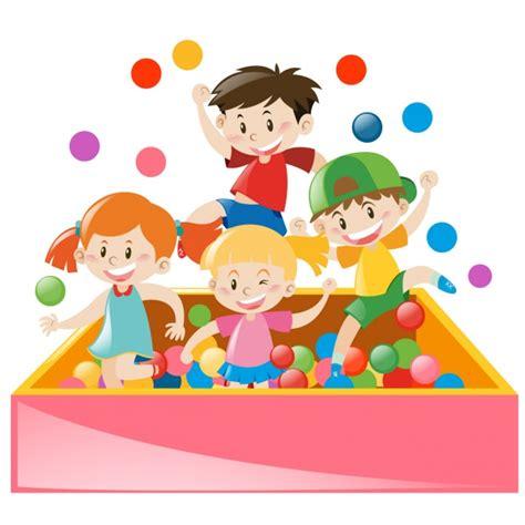 imagenes de niños jugando en un parque ni 241 os jugando con pelotas descargar vectores gratis