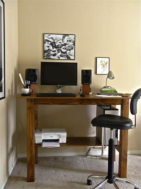 Make A Standing Desk by Build Your Own Stand Up Desk From Recycled Wood Homesfeed