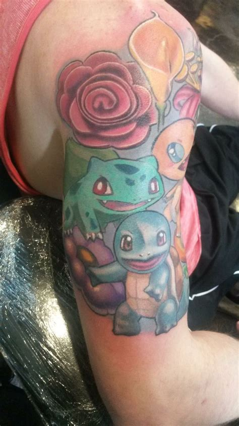 pokemon tattoo sleeve half sleeve nintendo tattoos
